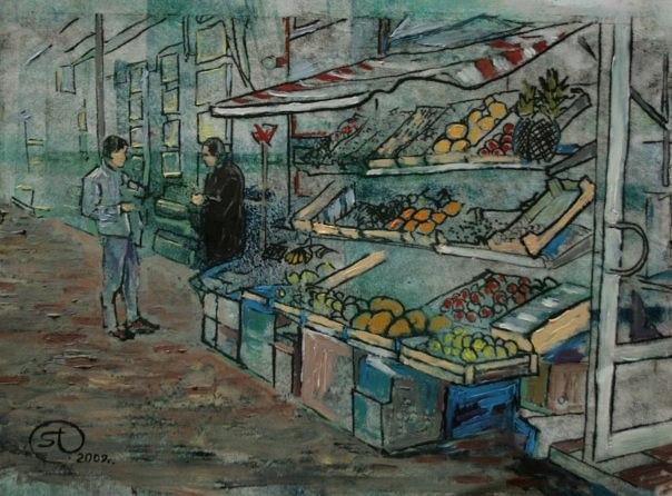 Активные продажиВсе были на рынке и видели, как продают фрукты. Все