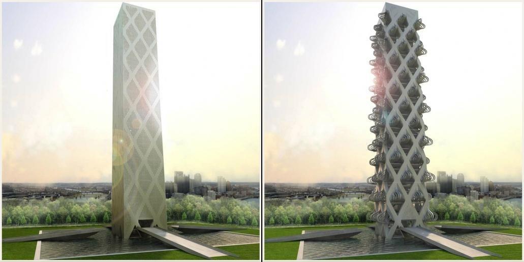 Kinetower Интересная кинетическая архитектура  Это одно из самых интересных
