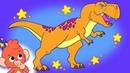 Learn Dinosaurs for Kids   Dinosaur Cartoon videos   Parasaurolophus T-Rex   Club Baboo dinasours