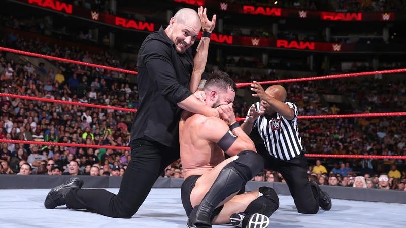Finn Bálor Bobby Roode vs Constable Baron Corbin Elias Raw July 9 2018