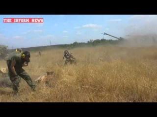 Луганск 10 августа / Ополченцы наносят удар по позициям украинских силовиков - Эксклюзив / 10.08