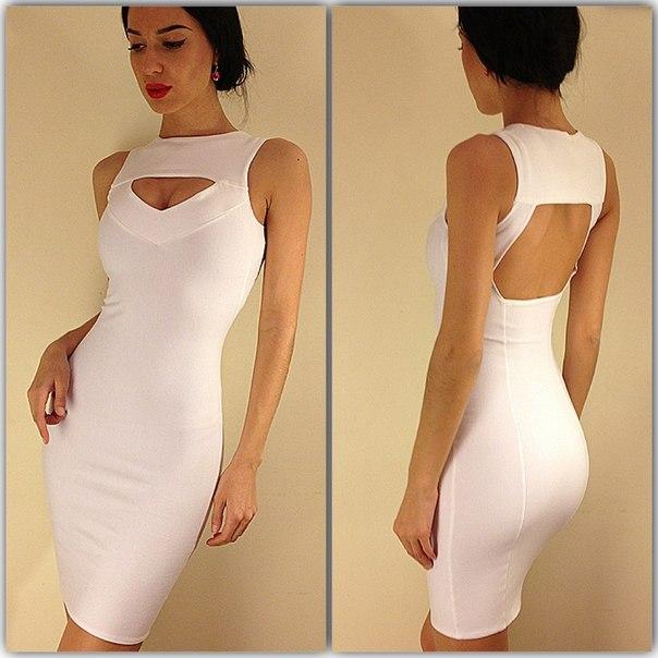 платье из трикотажа плотного фото