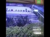 Мужчина сорвался с крыши на проезжающий автомобиль