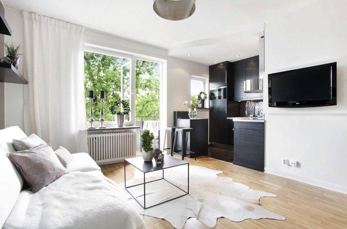 Дизайн квартиры-студии 28 м в Хельсинки / Финляндия - http://kvartirastudio.