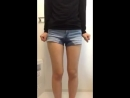 Jeans shorts pee