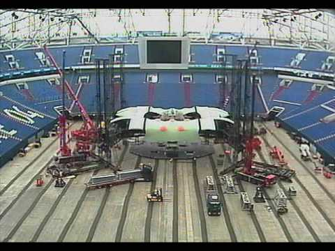U2 360° Tour The Claw Stage Construction and Deconstruction (Stage build Time Lapse)