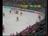 Чемпионат мира по хоккею 1990, Швейцария, групповой этап, СССР-Швеция, 1-3, 1 место, Быков Вячеслав