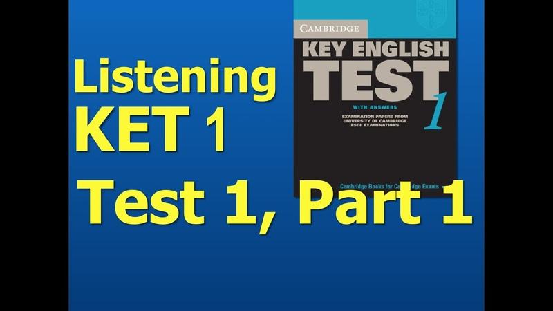 Listening A2, KET 1, Test 1, Part 1