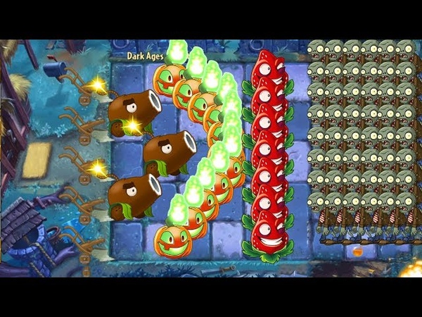 Plants vs Zombies 2 Coconut Cannon and Strawburst