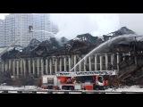 В Москве сгорело здание ИНИОН Fire in the building INION in Moscow