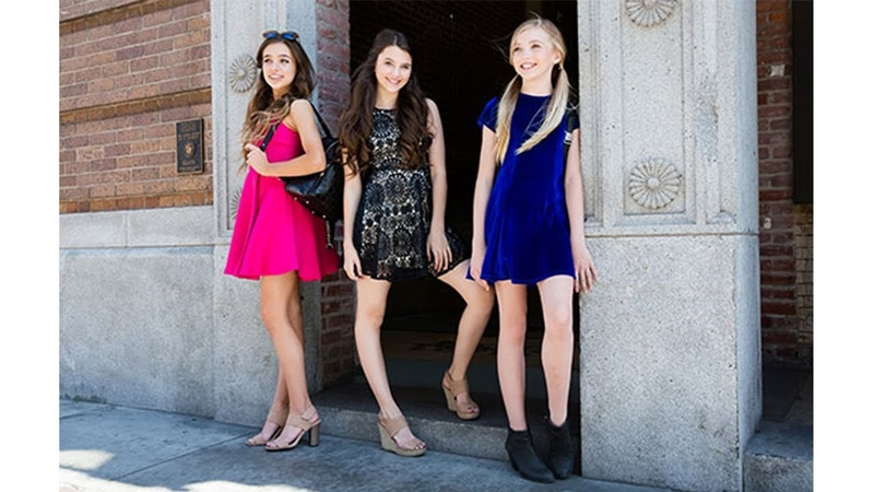 Brynn Rumfallo, Chloe East, Taylor Nunez, Wearing Miss Behave Girls Back To School Collection 2016