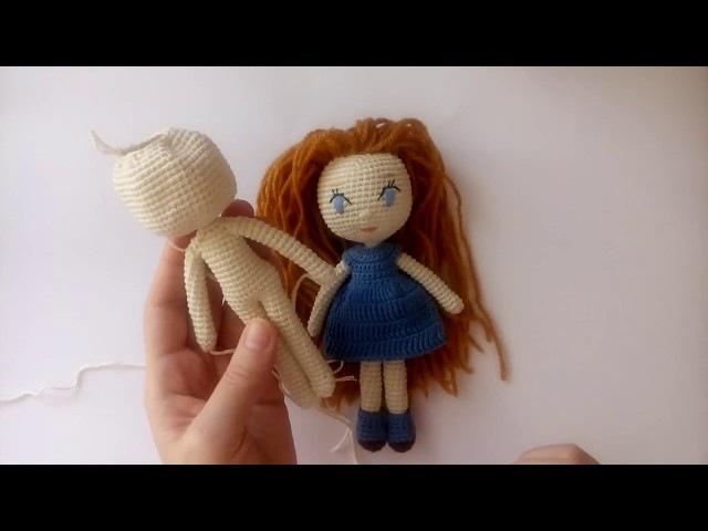 Вязаная кукла крючком для начинающих, часть 1: тело