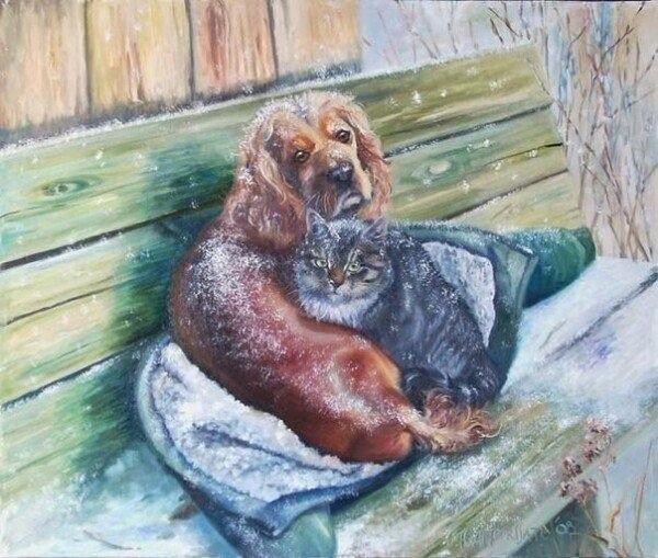 Пусть этой зимой каждое животное найдет себе тепло и уют.