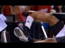 HD CLOSE UP Kevin Ware's leg injury SLOW MOTION