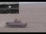 Ведение огня из автоматической пушки 2А72 с использованием автомата сопровождения цели АСТ-Б