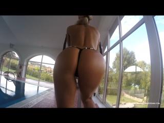 Maria Hot Sexy Blonde Babe Oil Tits Ass Legs Anal Nude Bikini Красивая Голая Девушка Упругая Попка в Масле Сочные Сиськи Анал Ню