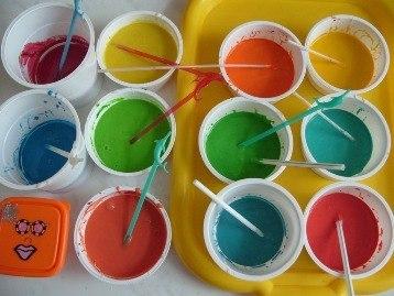 Как можно сделать краски в домашних условиях