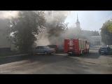 Около Центрального парка сгорела Волга