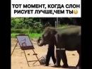 То чувство когда слон рисует лучше чем ты