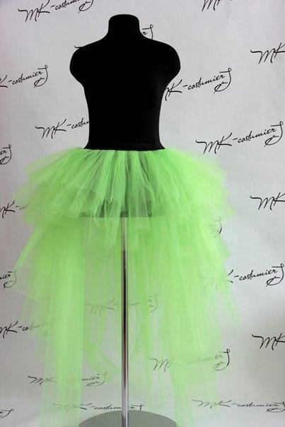 Как сшить юбку хризантему из фатина со шлейфом 91
