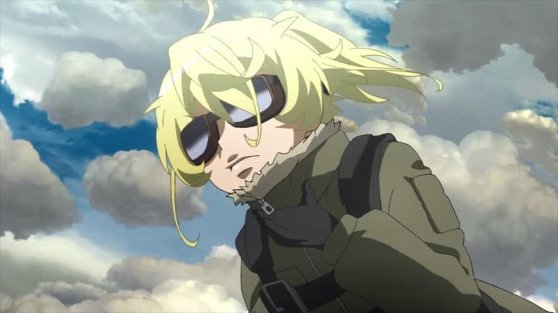 отрывок из аниме Военная хроника маленькой девочки Фильм Youjo Senki Movie
