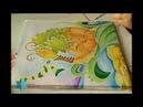 Картина Улитка процесс работы Батик Роспись по ткани
