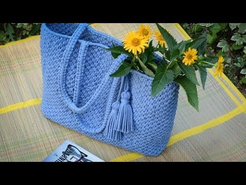 How to make macrame bag with Lovely Cottons rope - tote / beach bag - DIY bag tutorial - EN/PL