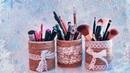 DIY: Органайзер для карандашей своими руками , декорируем баночку
