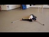 Нереальный танец на костылях