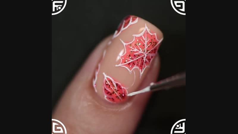 Осенний дизайн с гель лаками