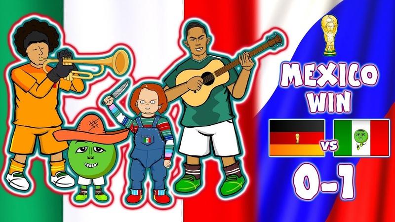 😲MEXICO beat GERMANY😲CHUCKY LOZANO GOAL World Cup Parody Goals Highlights