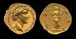 Древнеримские женщины-богини, монеты, Гонос