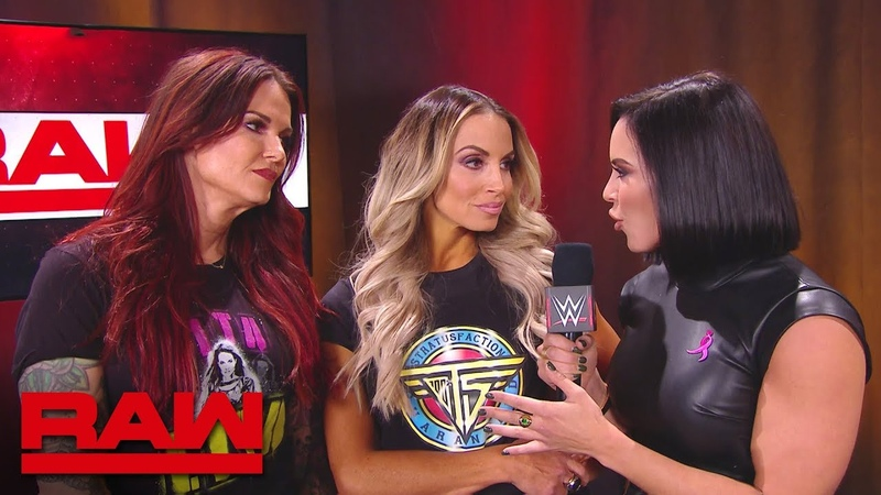 Mickie James Alicia Fox brawl with Trish Stratus and Lita: Raw, Oct. 22, 2018
