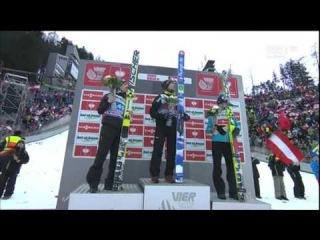 Innsbruck 2014 - dekoracja. Kamil Stoch na podium.