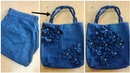Convert Old Jeans Into A beautiful Handbag DIY Best Out Of Waste