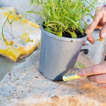 Как сделать цветник в камне