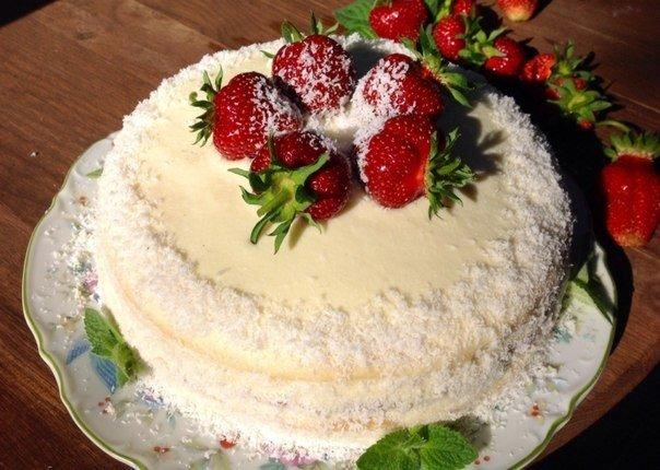 Сметанный торт c фото