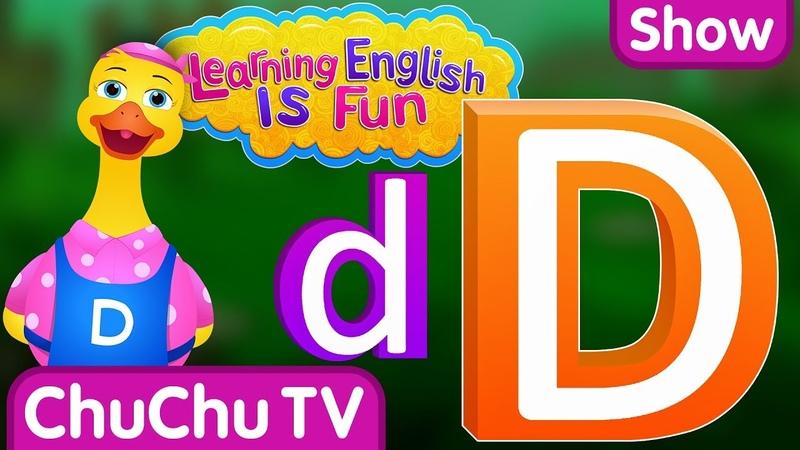 "Learning English Is Fun™ Alphabet D"" ChuChu TV Phonics Words Learning For Preschool Children"
