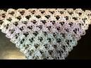 Красивый узор для шали,бактуса крюком/crochet shawl pattern
