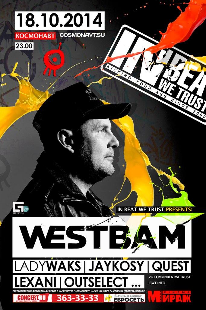 WESTBAM, IN BEAT WE TRUST, October 18, 2014