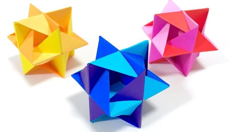 ユニット折り紙「ヒッカケ」 Kusudama Modular Origami Hikkake