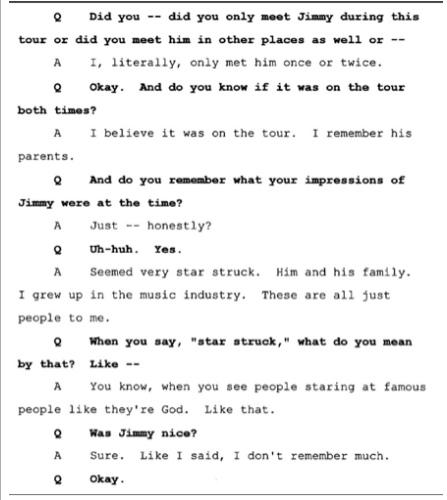 Показания Йоши Уейли, сына Джоли Левин (секретарь MJ)., изображение №5
