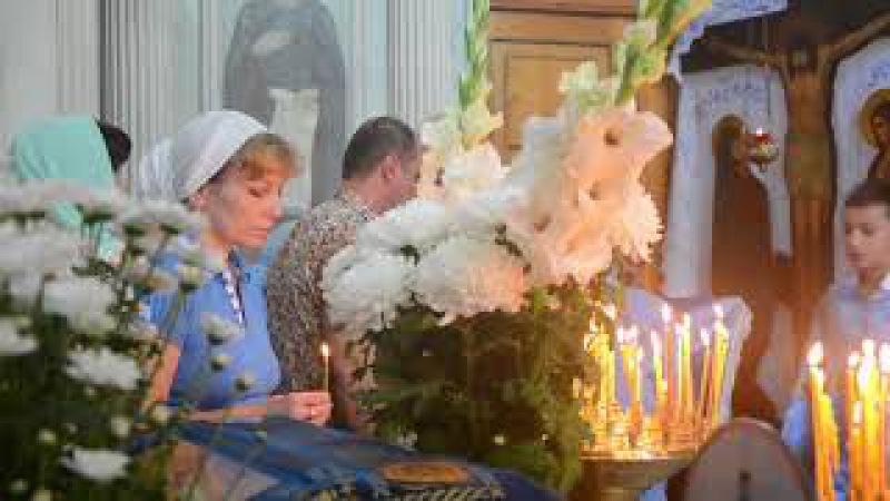 Служба в Свято-Введенском храме Пресвятой Богородицы в г. Южный