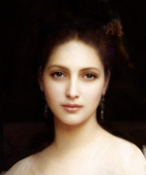 Женский портрет «Афродита» Автор: французский живописец Вильям Бугро (1825-1905).