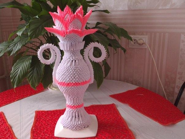 Оригами модульный ваза схема