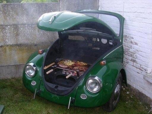 Мангал из старого автомобиля