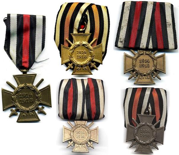 КРЕСТ ЧЕСТИ 1914-1918 Почётный крест за Мировую войну 1914-1918 («Ehrenreuz des Weltrieg») Крест был учрежден 13 июля 1934 года и стал первой официальной наградой Третьего Рейха. Практически