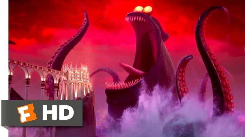 Hotel Transylvania 3 2018 Dracula vs the Kraken Scene 9 10 Movieclips