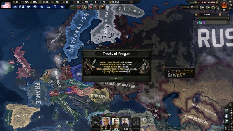 Победа в Третьей Мировой за США — Hearts of Iron 4: The Iron Curtain
