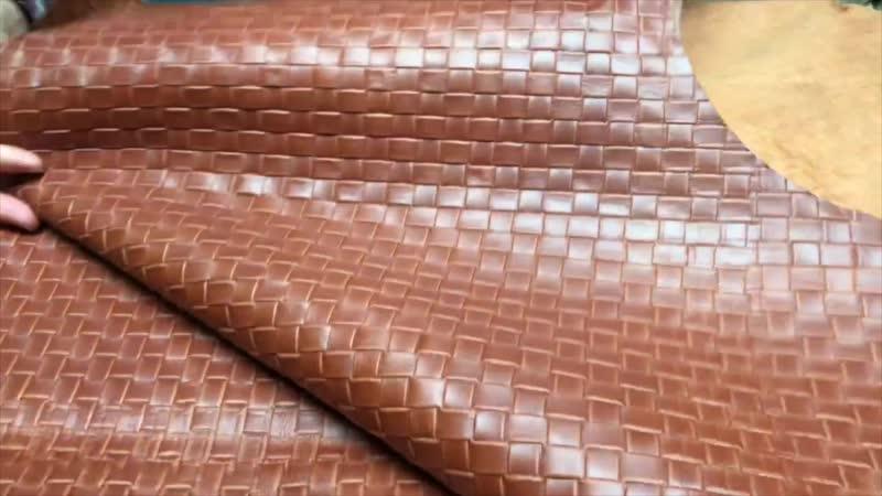 КРС, 0,8 - 1,0 мм, TUSCANIA, цвет COGNAC с тиснением, MASTROTTO, Италия